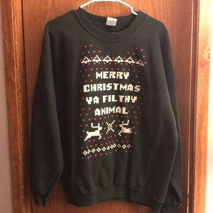 Novelty Christmas Sweatshirt Large